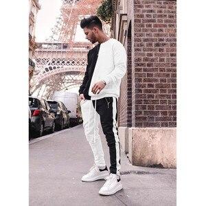 Image 5 - Strój sportowy marki męska casual strój sportowy moda kurtka z zamkiem + spodnie męski strój sportowy męska fitness jogging odzież sportowa