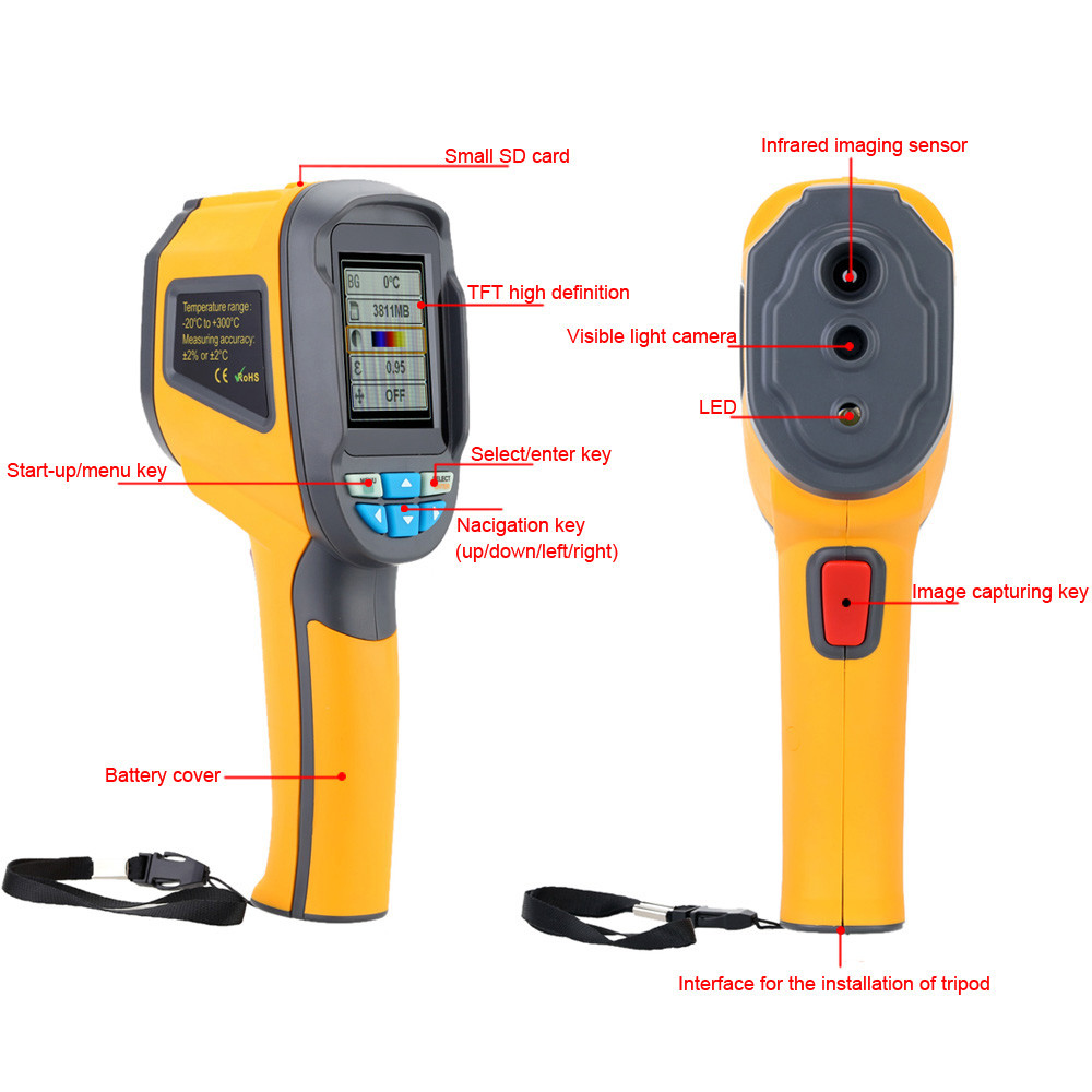 HT-02 Portable Digital Thermal Imaging Camera With Small SD Card For Car Engine Overhaul 4