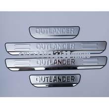 4 Uds coche Protector de alféizar de puerta para Mitsubishi Outlander 2013-2020 Trim desgaste Pedal umbral accesorios de la cubierta de acero inoxidable