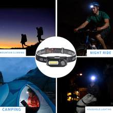 Small Rechargeable XPE/COB LED Flashlights Outdoor Fishing Torch Headlight Scope of Application Hiking Cave Exploration(China)