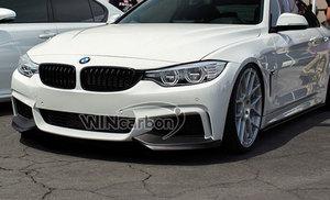 Image 2 - P Style F32 المصد الأمامي من الكربون الحقيقي للدراجات BMW F32 M Tech الوفير فقط 1pair