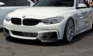 Image 2 - P Style F32 Real Carbon Front Bumper Splitters for BMW F32 M Tech Bumper Only 1pair