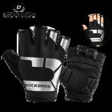 ROCKBROSขี่จักรยานถุงมือHalf Finger ShockproofสวมBreathable MTBจักรยานถุงมือผู้ชายผู้หญิงกีฬาอุปกรณ์จักรยาน
