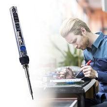 T12 Electric Soldering Iron Kit Adjustable Temp Digital Display Soldering Station Mini Portable Heat Pencil Welding Repair Tools