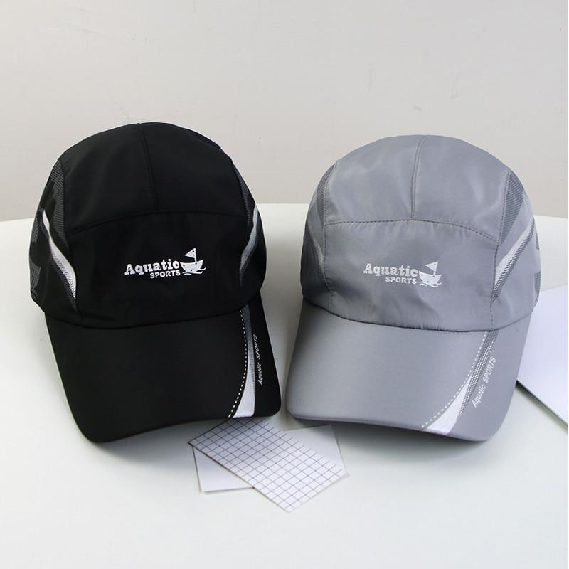 Cappelli da sole estivi da esterno cappellino da pesca da Golf da uomo ad asciugatura rapida da donna cappellini da Baseball Unisex regolabili 2