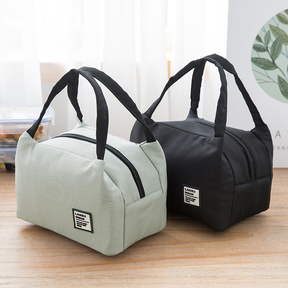 Women Kids Men Baby Food Lunch Bags Portable Food Storage Thermal Insulated Canvas Box Tote Bag Thermal Cooler