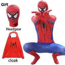 Kids Red Spider Black 3D Print Kostuum Jongens Movie Kwaliteit Spiderboy Spandex Strakke Pak Party Spider Cosplay Kan Toevoegen Rits