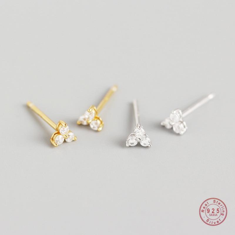 Boucles doreilles en argent Sterling 925, cristal incrusté, trèfle géométrique, luxe léger, Glamour, accessoires de bijoux pour femmes mûres