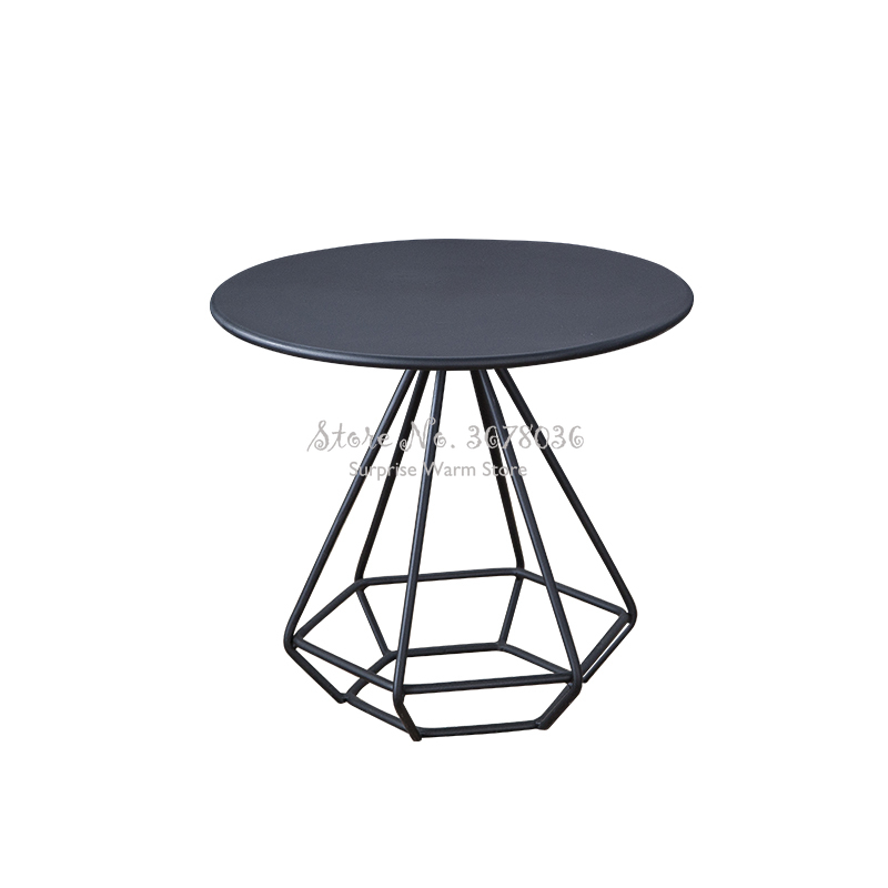 Nordic Golden Coffee Table Wrought Iron Round Table Simple Modern Tea Table Side Table Table Living Room Reception Table