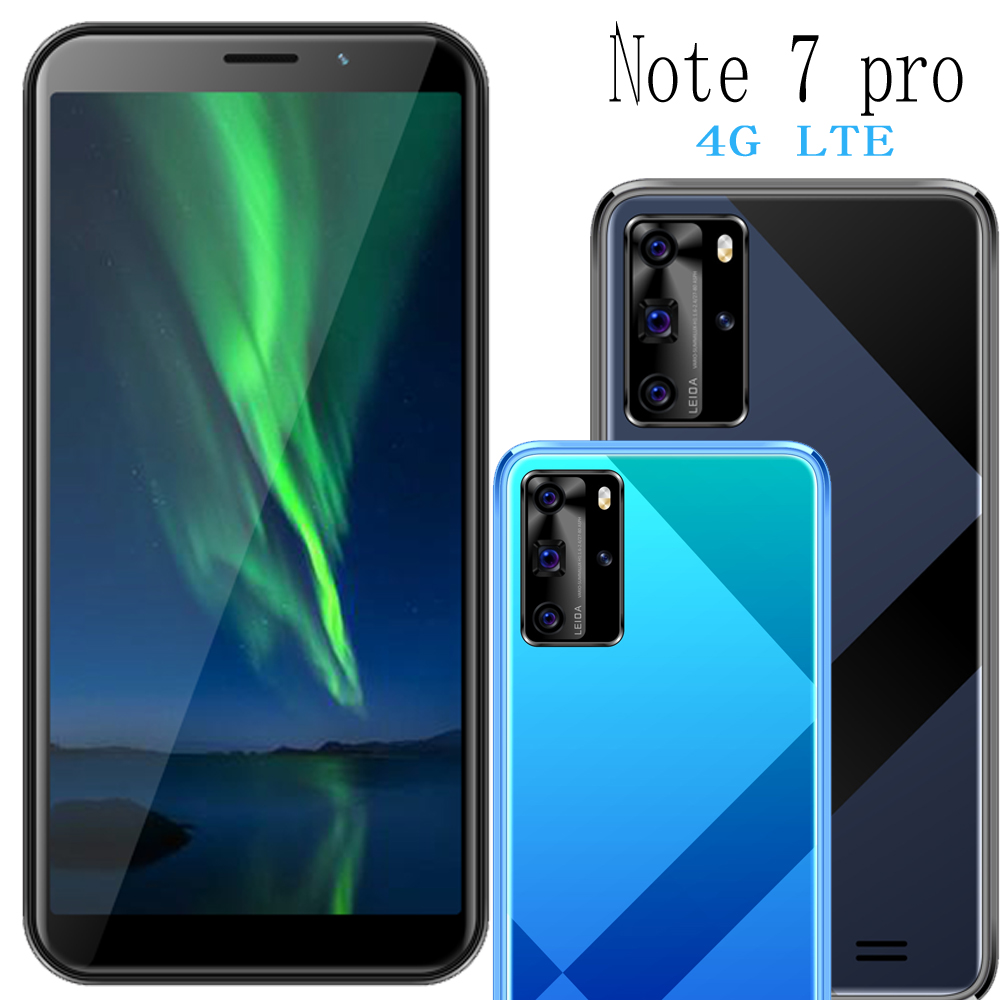 Note 7 pro smartphones 4G LTE celulares 4GB RAM 64GB ROM quad core 13MP camera 18:9 IPS Android mobile phones face ID unlocked(China)