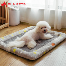 Square Chihuahua Bed Underpad for Dogs Four Seasons Electric Blanket Grey Stars Small