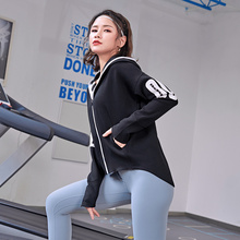 Running-Jacket Seamless Sweat Sports-Coat Long-Sleeves Fitness-Workout Zippere Quick-Dry
