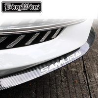 BeingWins Car Front Lip Bumper Skirts Anti Scratch Car Sticker Body Kit Spoiler Bumpers Rubber Auto Protector Strip Decoration