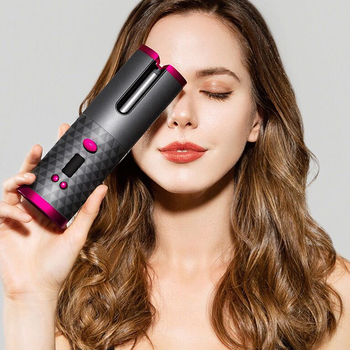 5000MAH Curling Iron Automatic Hair Curler LCD Display Irons USB Wand Air for Curls Waves