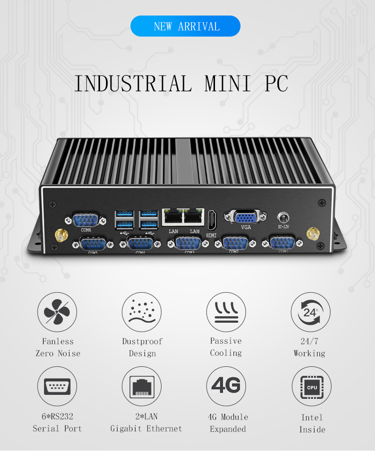 Topton Fanless Mini PC I7 8565U 8550U Whiskey Lake 4 Core 8 Threads 2*DDR4 M.2 PCIe Mini Computer Wind 10 Pro DP HD MI HTPC