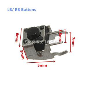Image 5 - IVYUEEN 10 PCS for Microsoft Xbox 360 Controller RB LB Bumper Button Switch Repair Parts Kits for XBox One X S Game Accessories