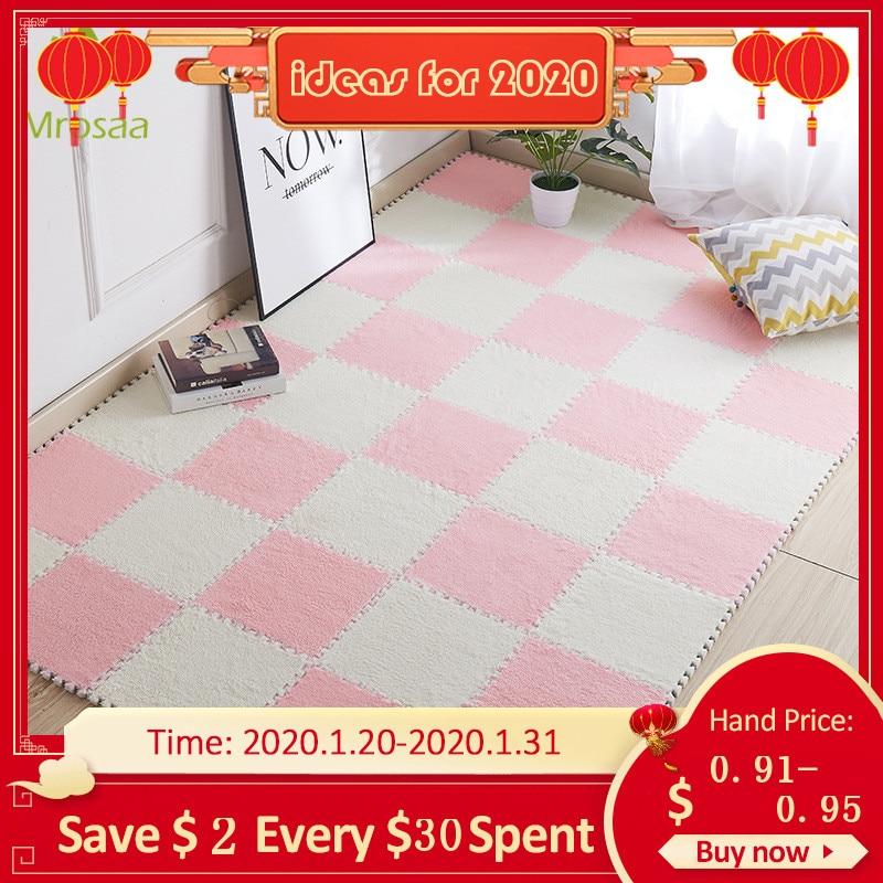 Top Sale 1pc  30*30cm Living Room Bedroom Children Kids Soft Carpet Magic Patchwork Jigsaw Splice Heads Climbing Baby Mat