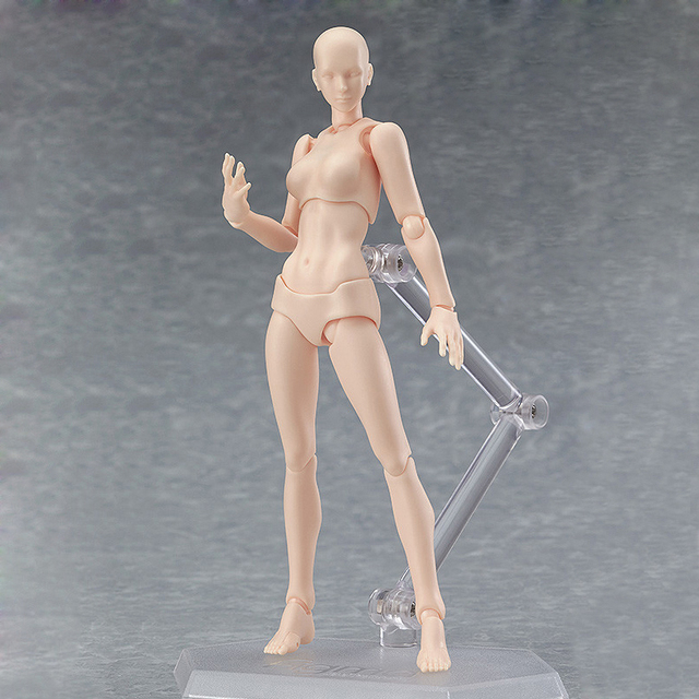 13cm Movable Drawing Figures For Artists Action Figure Model Human Mannequin Man Woman Child Home Decoration Draw figures Set 2