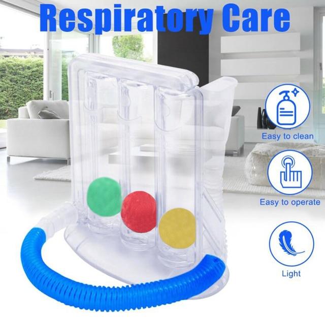 Deep Breathing Lung Exerciser 3Ball Incentive Spirometer Respiration Trainer Breathing Exerciser Rehabilitation Training 1