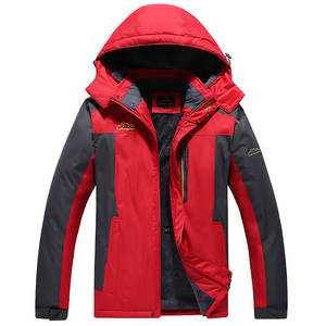 Jacket Raincoat Hooded Velvet Outdoor Sports Winter Casual Fashion Plus New-Products