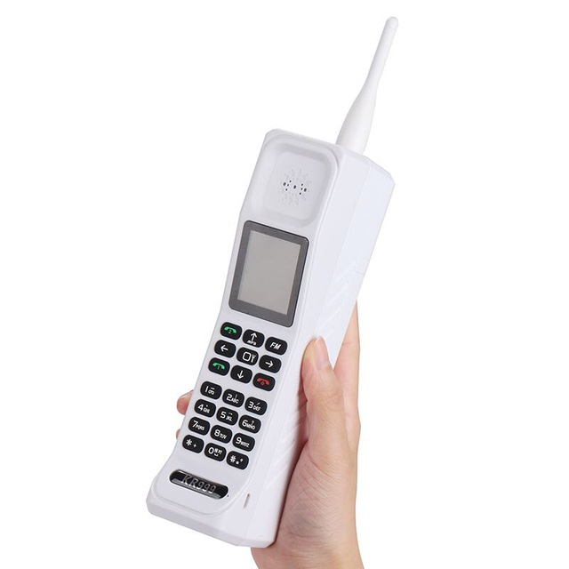 (Gift) Super Big KR999 Luxury Retro Telephone With Russian Keyboard Loud Sound Power Bank Standby Dual SIM Heavy H-mobile M999