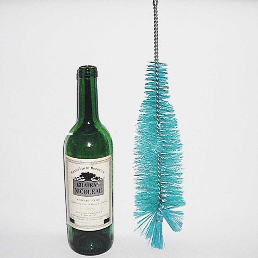 Hogar vino cerveza tubo de cerveza Caño limpiador Limpieza de cocina herramientas escobilla de limpieza de nailon para botellas