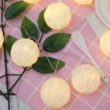 Christmas Garland LED Balls Crack Twinkly LED String Lights Lamp Ball Valentine Holiday Outdoor Lighting Diwali Warm Light Chain