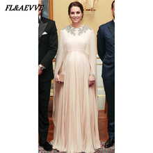 Fashion Muslim Prom Dresses Long Elegant Evening Chiffon Par