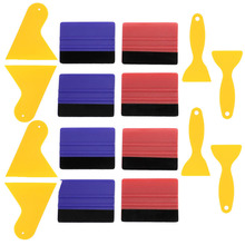 Felt Edge Squeegee Car Wrapping Tool Kits 4 Inch Vinyl Wrap Squeegee Applicator Tool for Car Vinyl Wrap, Window Tint, Wallpaper
