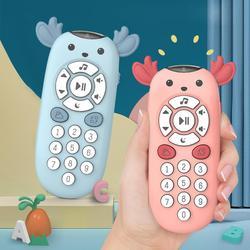 Baby Kleurrijke Muziek Mobiele Telefoon Speelgoed Elektrische Tv Afstandsbediening Nummers Vroeg Leren Educatief Speelgoed Baby Tandjes Bijtring
