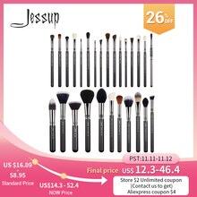 Jessup Borstels Professionele Make Up Borstel Foundation Eyeshader Lipsticks Poeder Mengen Fiber Haar Cosmetische Tool 7 27 Pcs