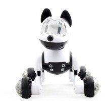 Голосовое управление, Голосовая активация, робот, собака, электронная игрушка, Интерактивная собачка, робот, щенок, музыка, светодиодный, глаза, мигающая игрушка
