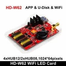 Darmowa wysyłka Huidu HD W62 APP WIFI średni pojedynczy podwójny kolor P4.75 P10 P16 LED szyld kontroler