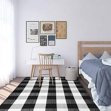 Plaid Check Rug 27.6''x43.3'' Cotton Hand-Woven Indoor/Outdoor Area Rugs(China)