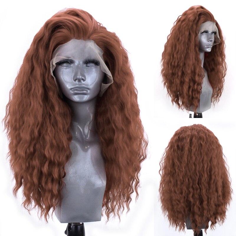 Charisma peruca cabelo sintético, cabelo encaracolado afro longo para mulheres com renda, sem cola cosplay