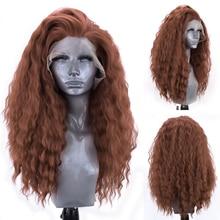 Длинный кудрявый парик Charisma, парик из высокотемпературных синтетических волос, фронтальный парик без клея, парики для косплея для женщин, к...