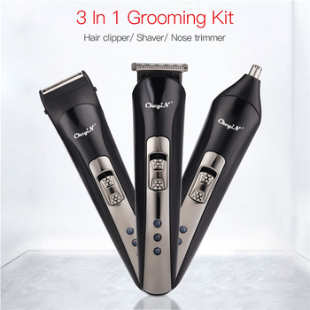 3 In 1 Hair Clipper Electric Cordless Nose Ear Beard Trimmer Professional Rechargeable Shaver Hair Cutter Remover Machine 47 1