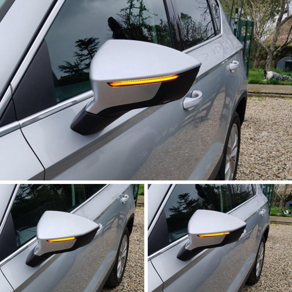 Для Seat Ateca Cupra 5D 2016 2017 2018 2019 FR Xcellence Динамический светодиодный мигалка последовательный световой индикатор поворота аксессуары 2 шт.