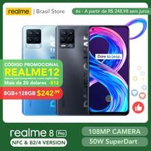 [World Premiere] realme 8 Pro Global Version 8GB 128GB 108MP Camera 50W SuperDart Charge AMOLED Support B2/4 EU Plug Charger