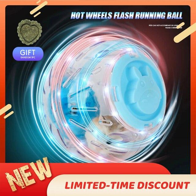 Upgrade Pet Hamster Guinea Pig Crystal Flashing Hot Wheel Sports Running Ball  1
