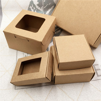 24pcs/lot 24 sizes Big And Small  Kraft cardboard packing gift box handmade soap candy For Wedding Decorations Event Party 50pcs small white kraft paper package box retail lipstick package cardboard boxes handmade soap candy jewelry gift packing box