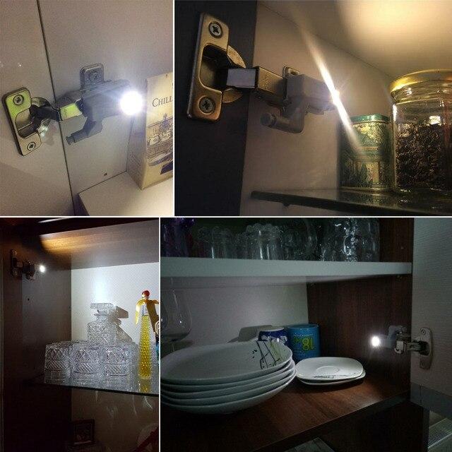 Lampe universelle mur LED, lampe, ouverture automatique sous larmoire 10 pièces/paquet, charnière de placard, de garde-robe, de maison