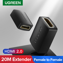 UGREEN HDMI compatible con acoplador 4K adaptador de conector hembra a hembra 3D 4K 1080P extensor para Nintendo interruptor compatible con HDMI