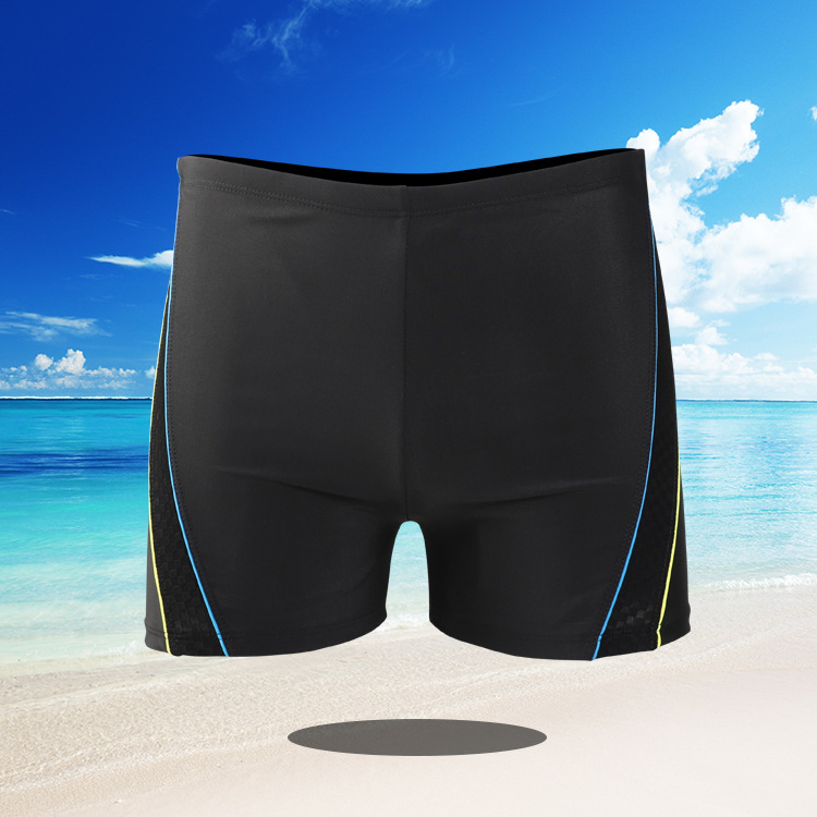 Men Swimwear Swimming Trunks Plus-sized Boxer Fashion Dyed Swimming Suit Adult Quick-Dry Industry Large Size Swimming Trunks 916