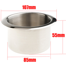 Drink Cup Holder Recessed For RV Car Marine Boat Trailer 1 Piece 107*55*85 Stainless Steel Silver Useful Durable New