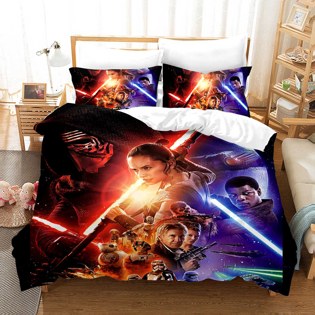 Star Wars Movie Series 3D Bedding Set Duvet Covers The Phantom Menace Comforter Bedding Sets Bedclothes Bed Linen (NO sheet)