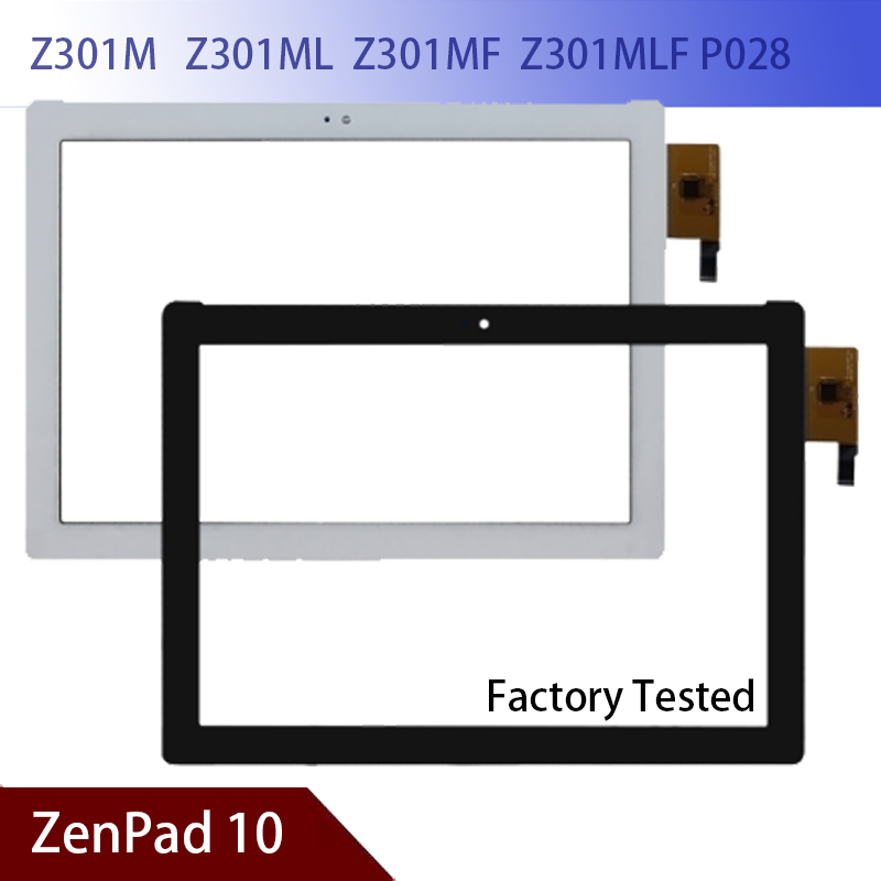 100% New A+ ASUS ZenPad 10 Z301M Z301ML Z301MF Z301MLF P028 Touch Screen Digitizer Glass Tablet Touch Screen Panel Free Shipping