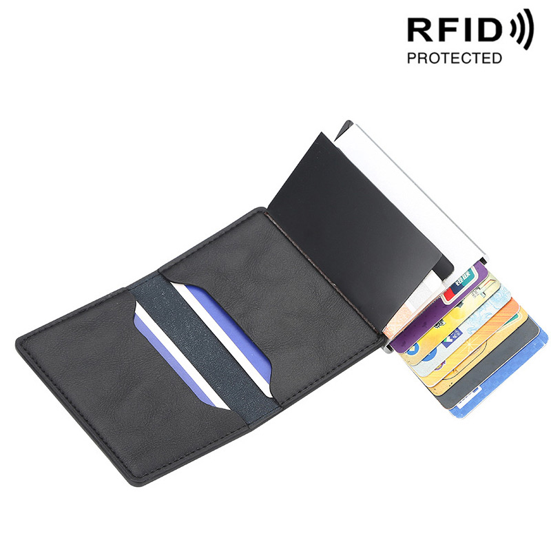 Business Rfid Card Holder Men's Wallets Money Bag Male Vintage Short Purse Small Leather Slim Wallets For Man Mini Wallet Thin
