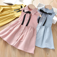 Girls' summer dresses 2020 new medium and large children's foreign dresses little girls dress new slender and large size printed dresses for women in summer of 2019 fashion new type a medium length dress sexy top
