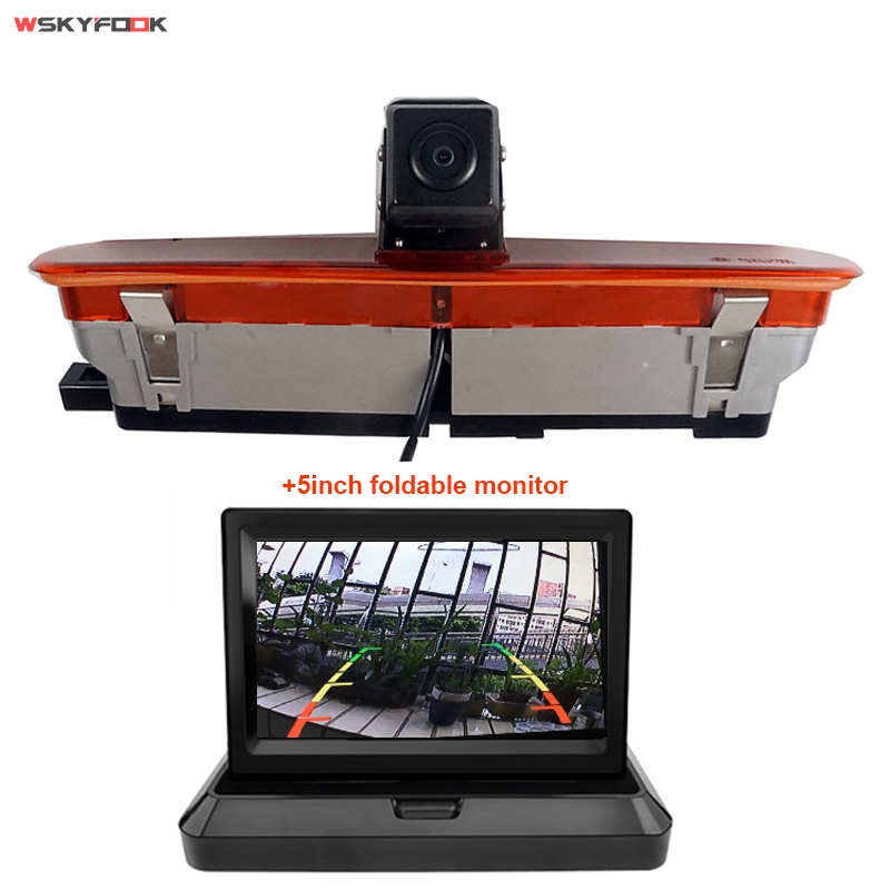 Night Vision Car Brake Light Rear View Camera For Fiat Doblo 2010-present,for Opel Combo 2011-2018 With 5inch Monitor Kit